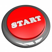 picture of start over  - Start button isolated over white 3d render - JPG