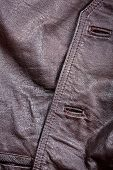 pic of vest  - Fragment of brown crumpled leather vest - JPG