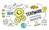 stock photo of collaboration  - Teamwork Team Together Collaboration Group Unity Success Concept - JPG