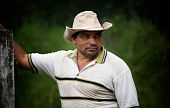 stock photo of vaquero  - Handsome male ranch hand in Costa Rica - JPG