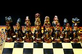 image of conquistadors  - The Conquistador army on a Peruvian chessboard  - JPG