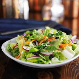 picture of grated radish  - garden salad with romaine lettuce and other vegetables - JPG