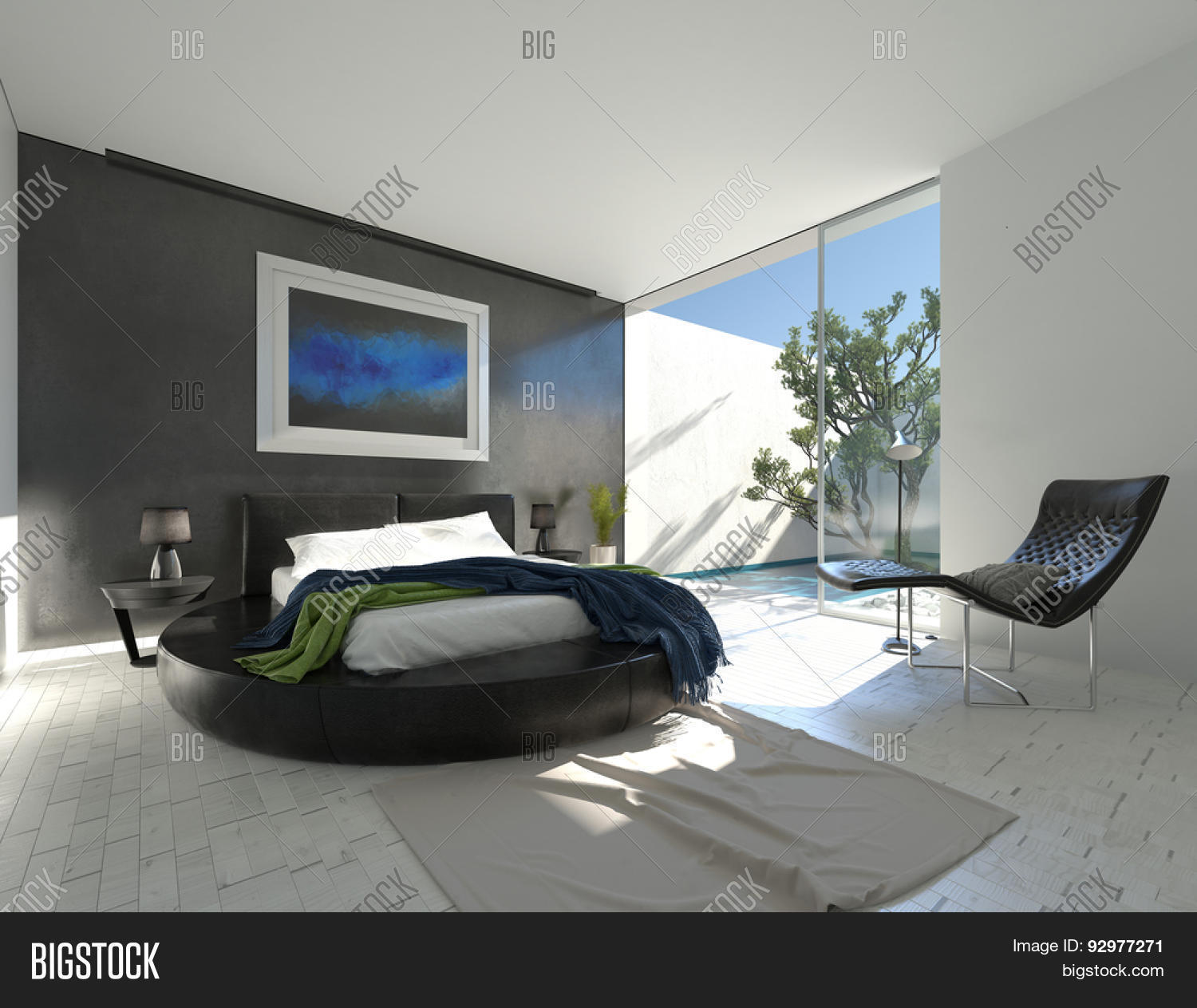 Modern Luxury Bedrooms Modern Luxury Bedroom With Black Leather And Grey And White Decor