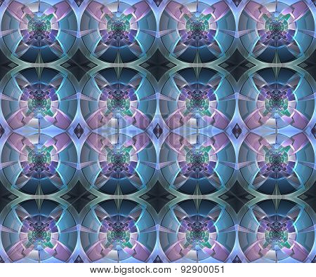Fractal Geometric Pattern. Computer Generated Graphics. Artwork For Creative Design, Art And Enterta