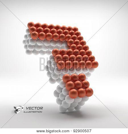 Question icon. Web design element. 3d vector illustration.