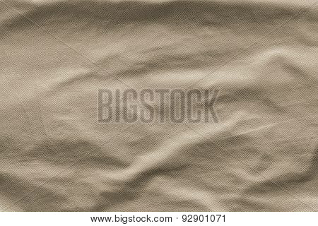 Beige Leather With Crumpled Grained Texture