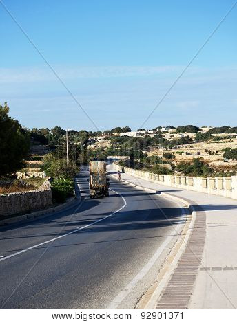 ZURIEQ, MALTA - JAN 14, 2014: panoramic view to Zurieq village in Malta