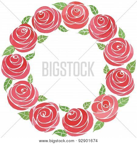 Juicy flowers arranged in lovely wreaths.