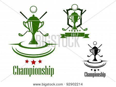 Golf championship emblem or banner