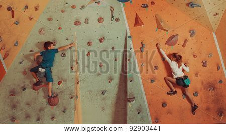 Children Climbing Indoor