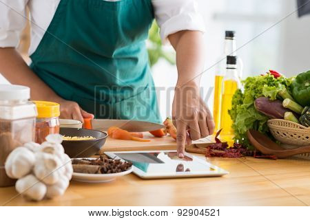 Technology And Cooking Concept