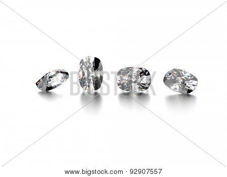 gemstone on  white. Jewelry background