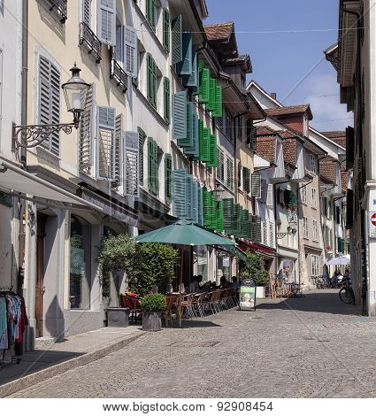 Old Town Street In Solothurn