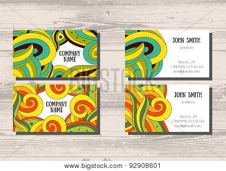 Business cards with two sides for your company and professionals.