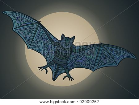 Ornamental vector beautiful  bat