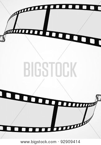 film reel strip abstract frame background - blank template