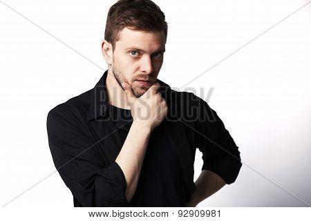 Casual Young Man Looking At Camera