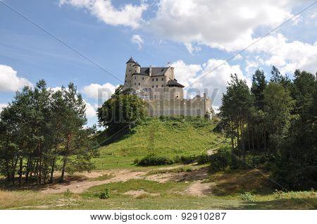 View Of Bobolice Castle In Poland