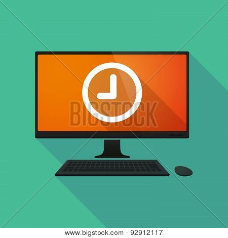 Personal Computer With A Clock