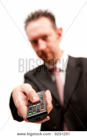 Businessman With Remote Control