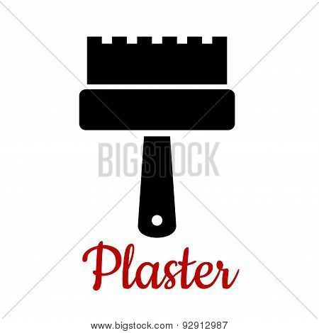 Isolated toothed spatula tool icon