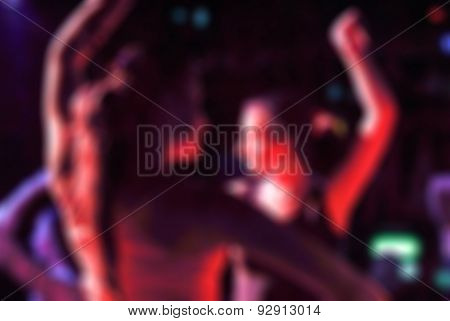 Flamenco dancers blur background
