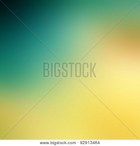 Abstract Background. Blue And Yellow Blurred Background Image. Digital Images.