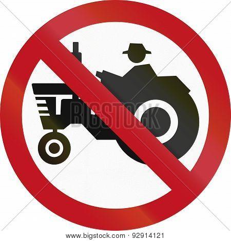 No Tractors In Colombia