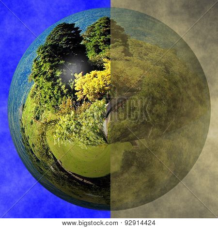 Clean Earth Versus Polluted Earth