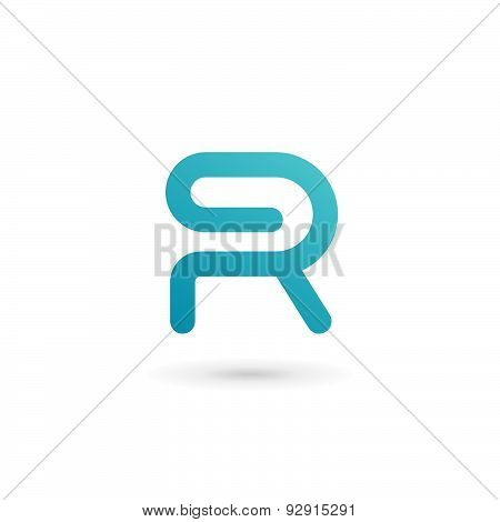 Letter R Clip Logo Icon Design Template Elements
