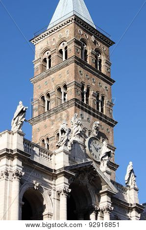 Belfry of Saint Mary Major Basilica in Rome