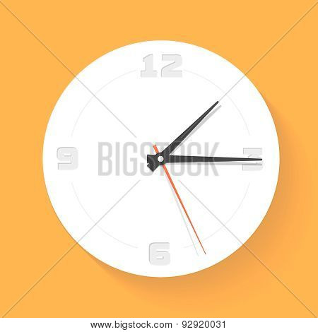 Wall clock. Watch. Vector icon