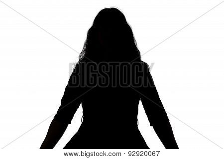 Silhouette of noname woman