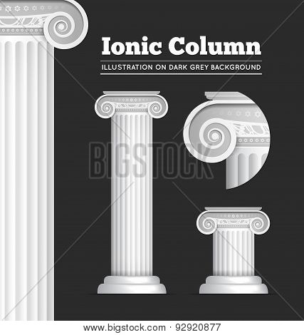 Classical Greek or Roman Ionic column
