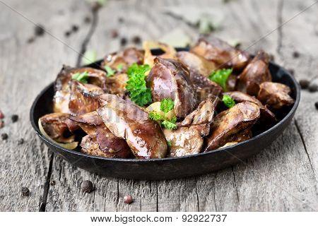 Chicken Liver In Frying Pan