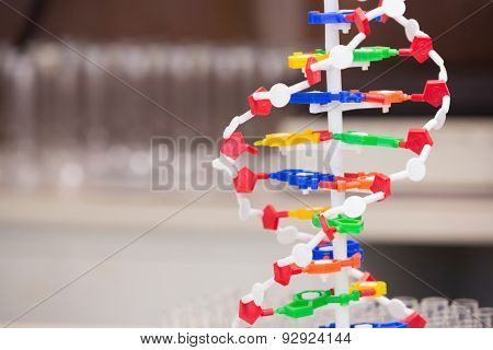 Dna helix model in laboratory