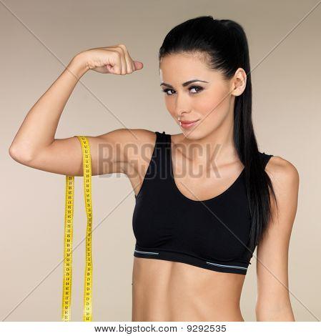 Brunette Fitness Girl