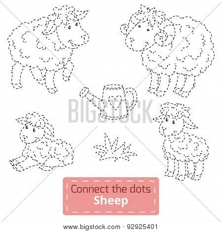 Connect The Dots (farm Animals Set, Sheep Family)