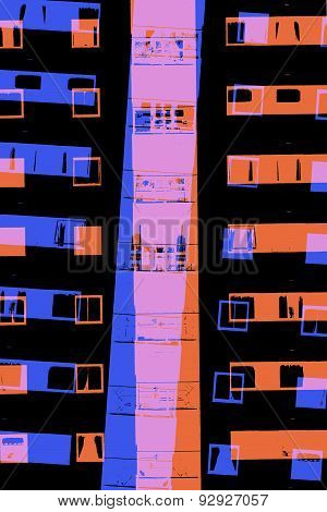 City Apartment Building At Night