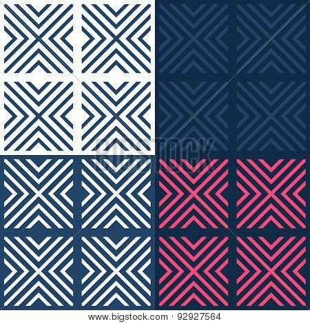Bright contrast seamless geometrical pattern