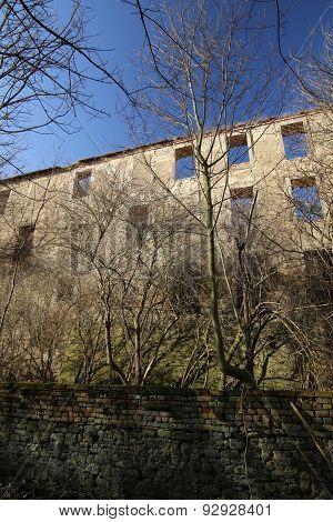 Castle Ruin Haus Zeitz In Saxony-anhalt