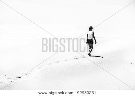 Girl On The Desert