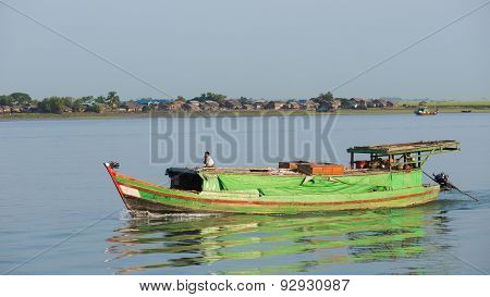 Cargo Vessel On The Kaladan River