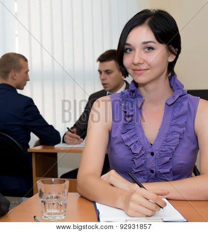 Female office administrator