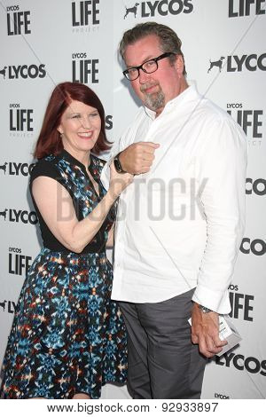 LOS ANGELES - JUN 8:  Kate Flannery, Chris Haston at the LA Launch Of LYCOS Life at the Banned From TV Jam Space on June 8, 2015 in North Hollywood, CA