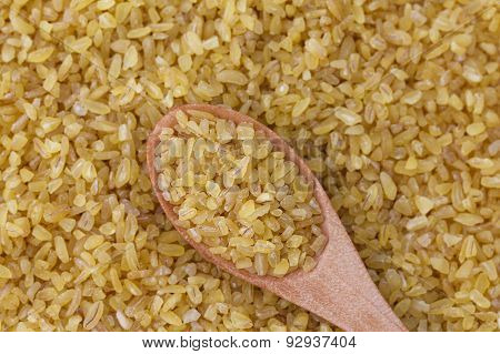 Bulgur wheat background.