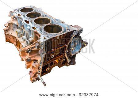 Inside Of Old Vehicle Engine