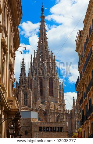The Cathedral of the Holy Cross and Saint Eulalia. Barcelona