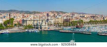 The Port of Barcelona. Catalonia, Spain.