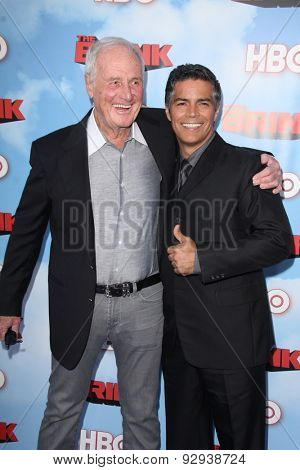 LOS ANGELES - JUN 8:  Jerry Weintraub, Esai Morales at the HBO's